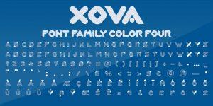 فونت انگلیسی xova