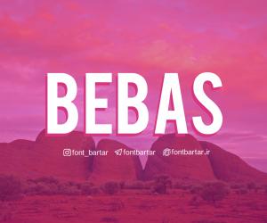 فونت انگلیسی Bebas