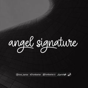 فونت انگلیسی angel signature