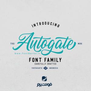 فونت انگلیسی AutoGate